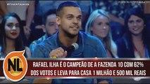 Rafael Ilha é o Grande CAMPEÃO de A Fazenda 10 e Leva o Prêmio de 1,5 Milhão de Reais