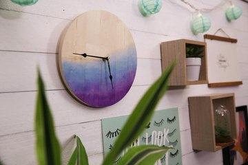 Stay on Schedule With Our DIY Clock Art