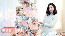 Floral Xmas Tree Decor | 12 DIYs of Christmas