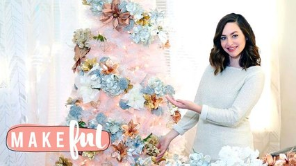 Floral Xmas Tree Decor   12 DIYs of Christmas