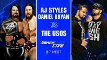 WWE SmackDown LIVE: AJ Styles & Daniel Bryan vs. The Usos | Español Latino HD
