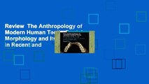 Review  The Anthropology of Modern Human Teeth: Dental Morphology and Its Variation in Recent and