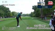 【ゴルフ】ブルックスケプカ Brooks Koepka プロ 全米プロ 最終日 8番ホール Tee shot swing スウィング