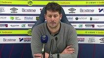 Conférence de presse Fabien Mercadal après SMCaen / Toulouse FC