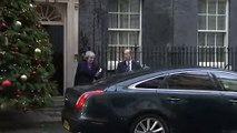 Theresa May leaves Downing Street for last PMQs of 2018