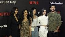 Jhanvi Kapoor, Khushi Kapoor, Shanaya & Rhea ROCK the red carpet at Netflix; Watch video | FilmiBeat