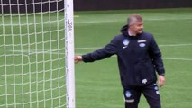 Recent footage of new Man Utd caretaker manager Solskjaer training Molde FK