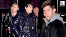 Sophie Turner & Joe Jonas Cuddles Up To Each Other While Nick Jonas Sits Alone At Game