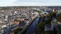 Vidéo montage sur le nouveau téléphérique reliant le centre-ville à la citadelle de Namur