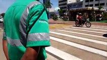 Cettrans realiza ação educativa na Avenida Brasil