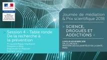 12Journée de médiation et Prix scientifique MILDECA « Science, Drogues et Addictions », 26 novembre 2018. Session 4 « Comment mieux diffuser les connaissances, favoriser leur transfert vers les politiques publiques et les pratiques professionnelles ? » #2