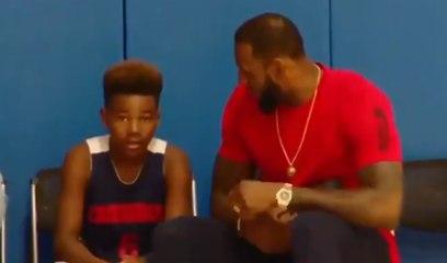 Le superbe discours de LeBron James à son fils Bryce Maximus