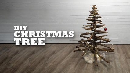 Go out on a limb and get festive with our DIY Christmas tree