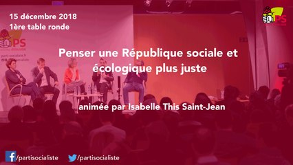 Conseil national du 15/12/2018 : table ronde