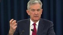 Fed chairman Jay Powell speaks on interest rate hike