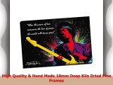 Jimi Hendrix Quote Colour Splash Canvas Print Picture Wall Art Large 30x20 Inches