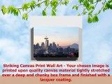 Premium Canvas Print 20x14 Inch  50x35cm Niagara Falls Daffodils Flowers  Mounted and