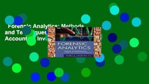 Forensic Analytics  Methods and Techniques for Forensic Accounting Investigations (Wiley