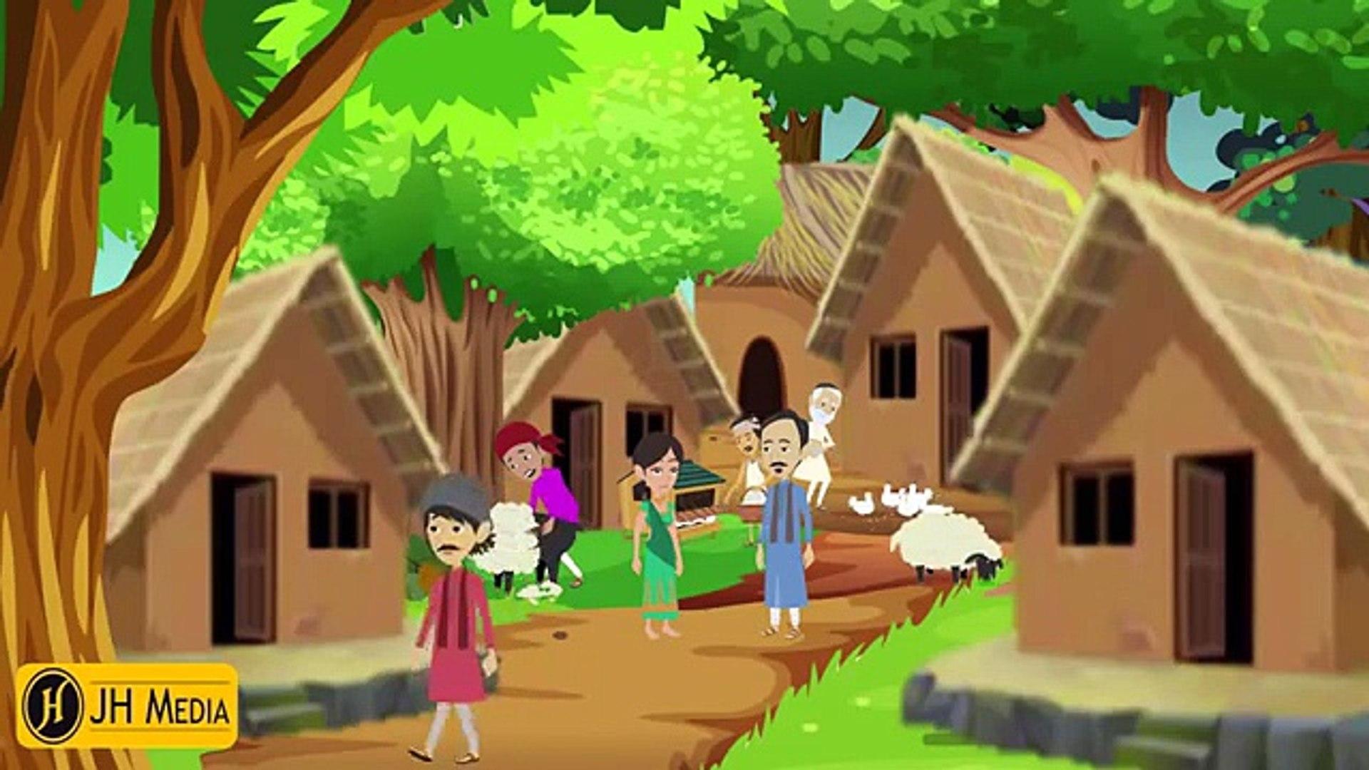 Miser Man Moral Story- New Urdu Cartoon Stories  - Urdu Cartoon Story For Kids
