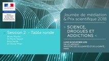 7Journée de médiation et Prix scientifique MILDECA « Science, Drogues et Addictions », 26 novembre 2018. Session 2 « Usages à risque des écrans ». Table ronde avec Bruno Rocher, Dr Pierre Taquet, Dr Olivier Phan, Elisa Sarda