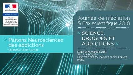 3Journée de médiation et Prix scientifique MILDECA « Science, Drogues et Addictions », 26 novembre 2018. « Parlons neuroscience des addictions » par Stéphanie Cailler-Garnier