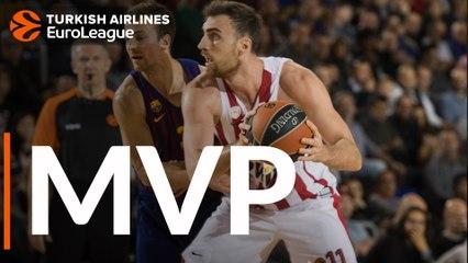 Round 13 MVP: Nikola Milutinov, Olympiacos