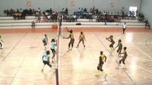 Sport: volley-ball finale super-coupe qui opposa l'ASEC  face  au STELLA CLUB, une rencontre époustouflante