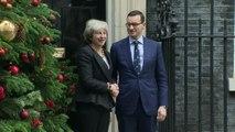 Polish PM Morawiecki meets Theresa May in Downing Street