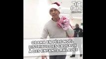 Barack Obama en père Noël distribue des cadeaux à des enfants malades