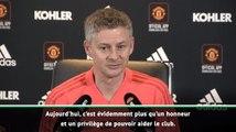 Ole Gunnar Solskjaer honoré d'entraîner Manchester United