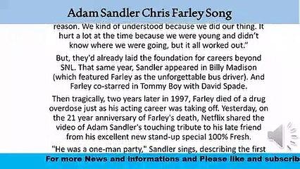 Adam Sandler Chris Farley Song