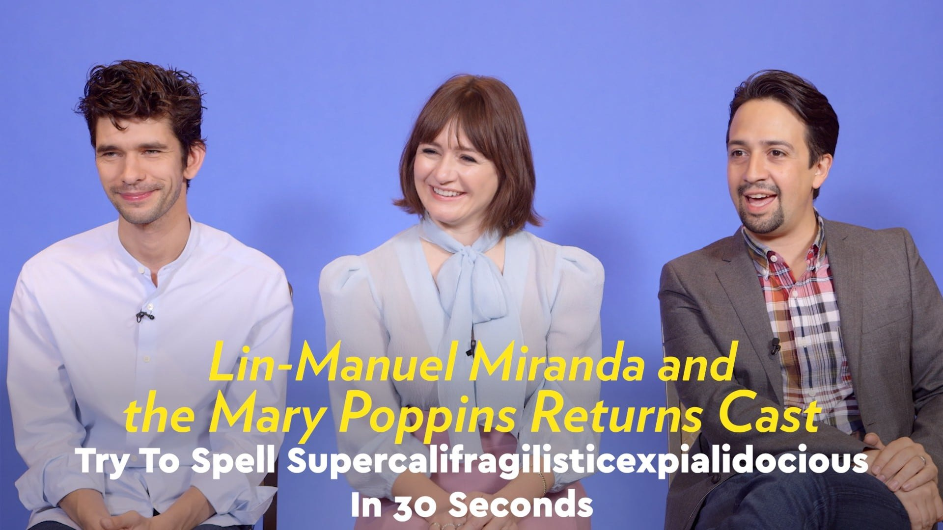 Watch Lin Manuel Miranda Try To Spell Supercalifragilisticexpialidocious In 30 Seconds Video Dailymotion