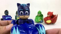 PJ Masks Mini Wheelie Vehicles Catboy Gekko Owlette Romeo Night Ninja || Keith's Toy Box