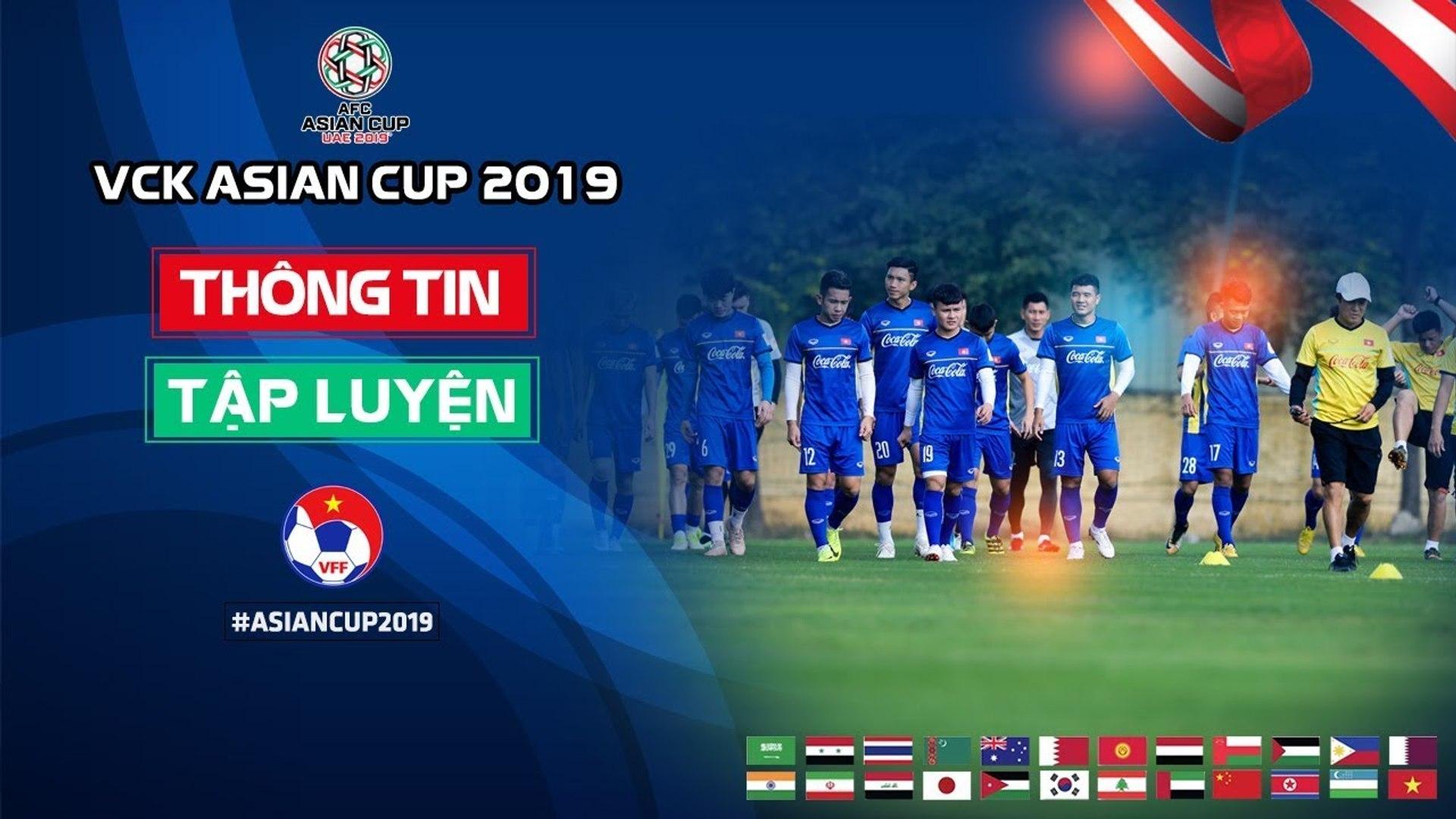 ĐT Việt Nam bước vào buổi tập đầu tiên sau AFF Cup 2018 | VFF Channel