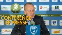 Conférence de presse Chamois Niortais - Stade Brestois 29 (1-1) : Patrice LAIR (CNFC) - Jean-Marc FURLAN (BREST) - 2018/2019