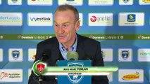 Réaction de Jean-Philippe Faure et Jean-Marc Furlan après Chamois Niortais - Stade Brestois 29