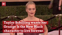 Taylor Schilling May Just Take Her 'Orange Is The New Black Character' With Her