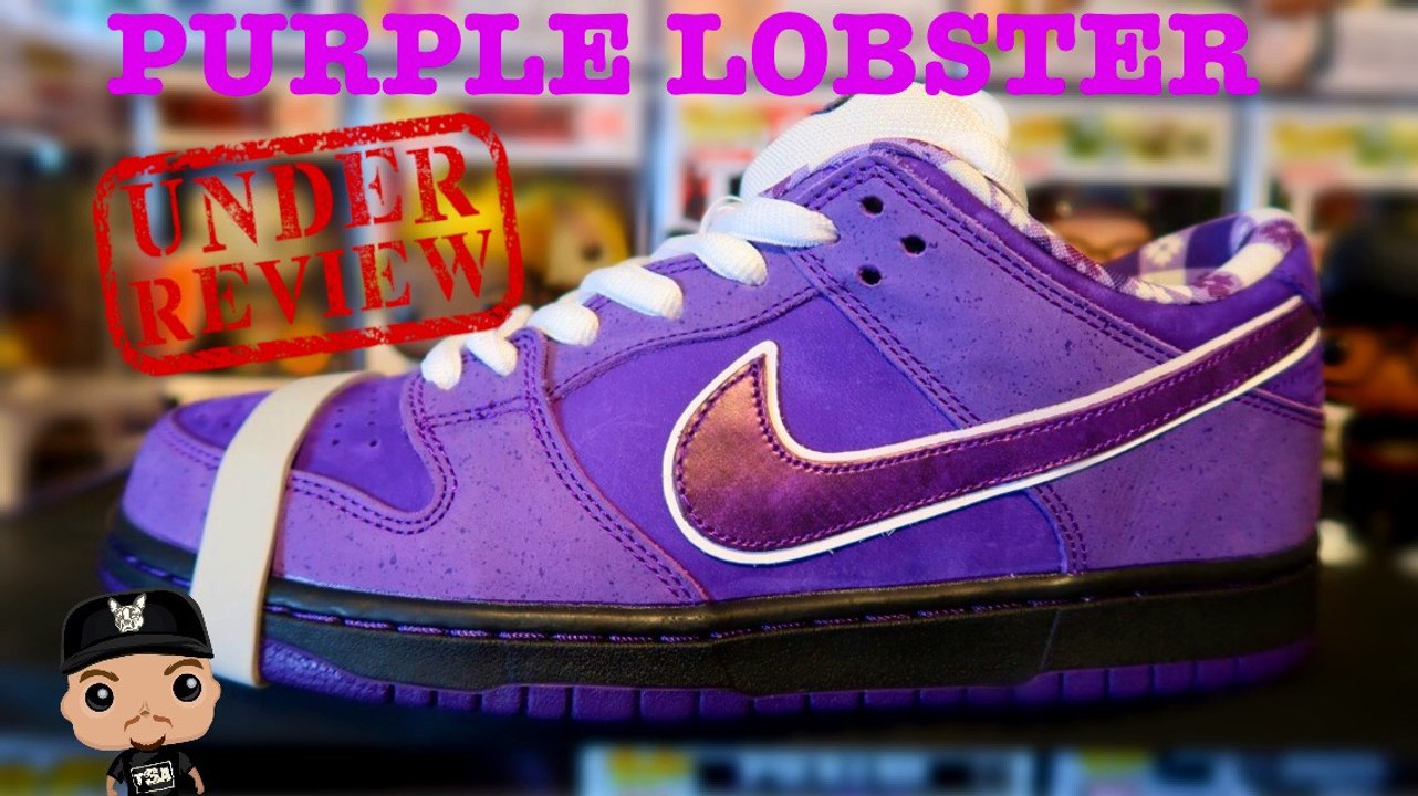 PURPLE LOBSTER NIKE SB DUNK LOW CONCEPTS SNEAKER UNBOXING DETAILED REVIEW
