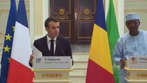 Conférence conjointe du Président de la République, Emmanuel Macron, et de Idriss Déby, Président Du Tchad