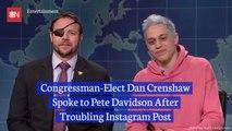 Congressman-Elect Dan Crenshaw And Pete Davidson Are Now Friends