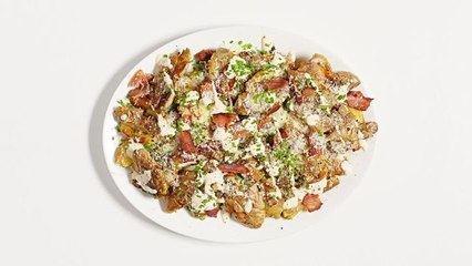 Smashed and Crispy Loaded Potatoes
