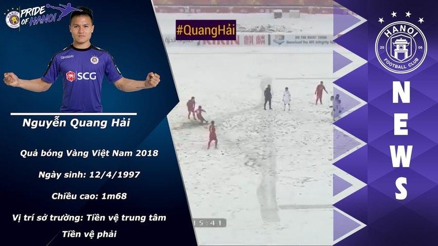TOP 10 bàn thắng đẹp nhất của Quả Bóng Vàng Việt Nam 2018: Nguyễn Quang Hải   HANOI FC   Godialy.com