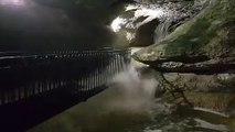La grotte-chapelle de Remonot dans le Doubs prend l'eau
