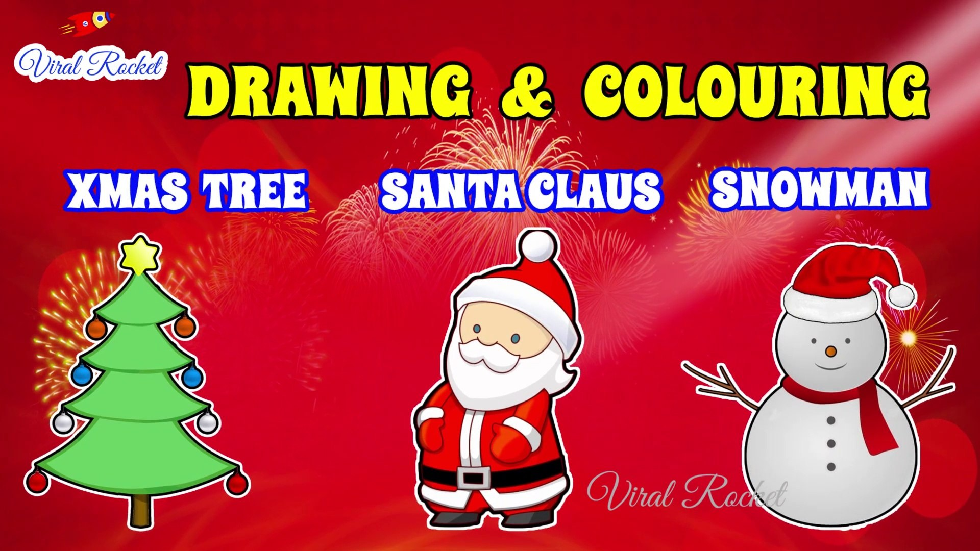 Santa Claus Xmas Tree Drawing And Colouring Snowman Coloring Christmas Drawing For Kids Art Breeze 3 Video Dailymotion