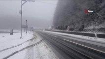 Bolu Dağında Kar Yağışı Etkili Oldu.. Kar Kalınlığının 20 Santimetreye Ulaşması Bekleniyor