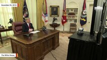 Trump Holds Christmas Day Video Teleconference With US Troops
