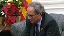"""Quim Torra pidió a Sánchez una mediación internacional y le entregó 21 propuestas de """"acuerdo democrático"""""""