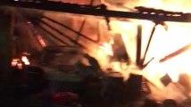 Incendie d'un hangar rue Robespierre à Sprimont