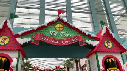 Universal Studios Singapore Christmas 2018 park tour and shows PREVIEW