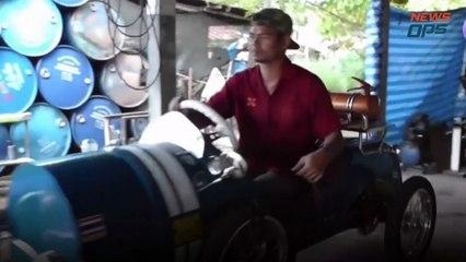 The Gas Barrel Car Inventor